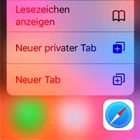 Safari-Tabs am iPhone schneller öffnen