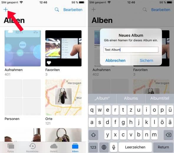 Fotoalben am iPhone erstellen und löschen