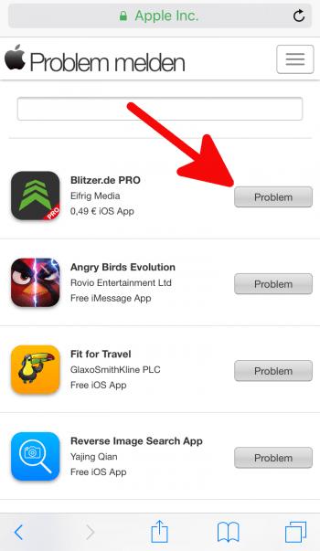 Apps zurückgeben 1