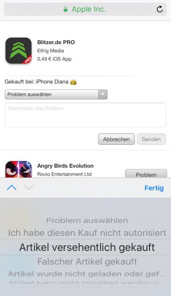 Apps zurückgeben 2