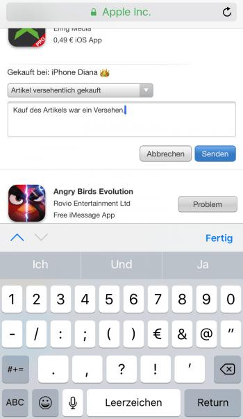 Apps zurückgeben 3