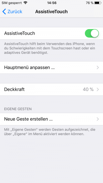 iPhone mit defektem Power Button neu starten