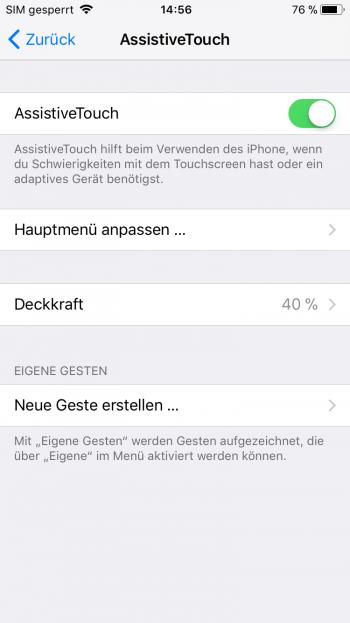 iPhone mit defektem Power Button neu starten