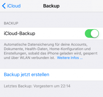 iPhone Backup erstellen 3