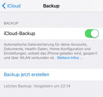 iPhone Backup erstellen 3