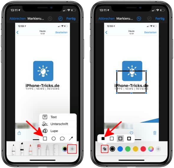 Markierungen nutzen in der Fotos-App