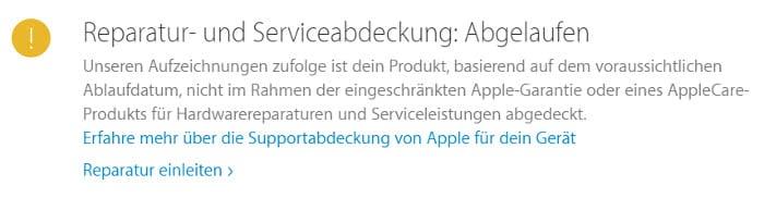 iPhone Garantiestatus überprüfen – Reparatur- und Serviceabdeckung