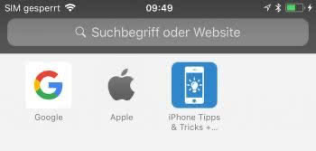 Privat Modus in Safari auf dem iPhone