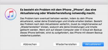 iPhone bleibt beim Startvorgang hängen – Wartungszustand aktivieren