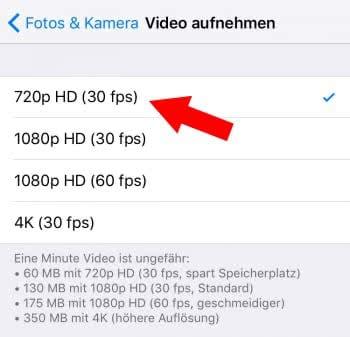 Alltägliche Videos nicht in höchster Qualität aufnehmen
