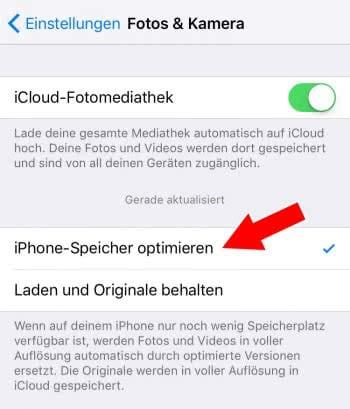 Fotos in voller Auflösung nicht am iPhone behalten