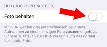 """""""Normale"""" Fotos bei HDR- und Porträt-Aufnahmen nicht behalten"""