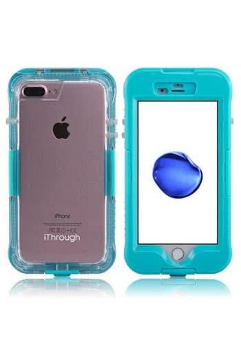Blaue wasserfeste Schutzhülle für das iPhone 7