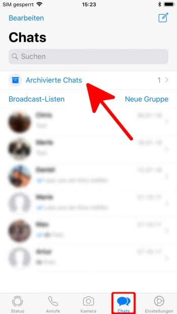 WhatsApp Chats verstecken