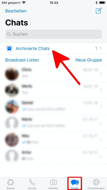 WhatsApp Chats verstecken und wieder einblenden - iPhone