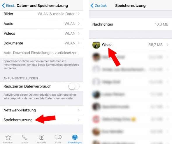 WhatsApp Chatverläufe von Bildern, Videos, usw. befreien & Speicherplatz sparen