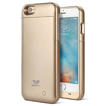 Goldenes Battery Case von SAVFY für das iPhone 6/6s