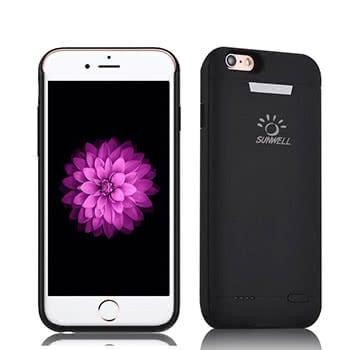 Schwarzes schlankes Battery Case für das iPhone 6/6s