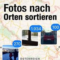 Fotos nach Aufnahmeort sortieren & auf Karte anzeigen