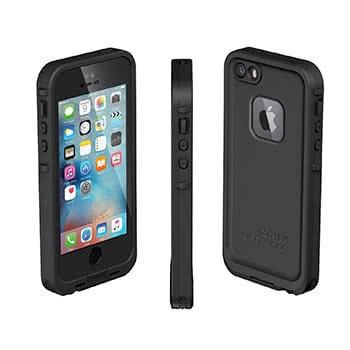 Schwarze, wasserfeste iPhone 5/5s Hülle von allen Seiten gezeigt