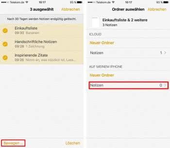 iPhone Notizen wiederherstellen