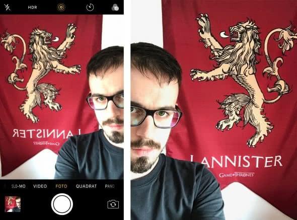 Selfies gespiegelt statt spiegelverkehrt aufnehmen