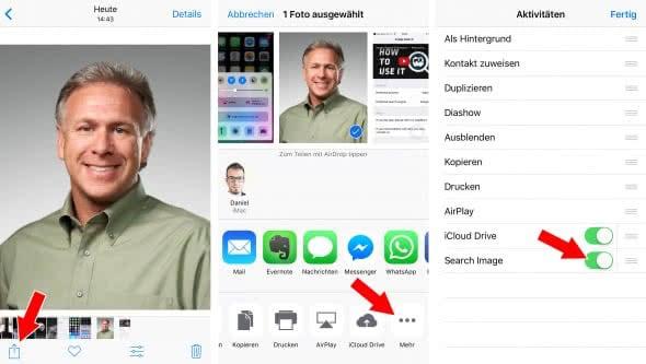 Umgekehrte Google-Bildersuche am iPhone nutzen