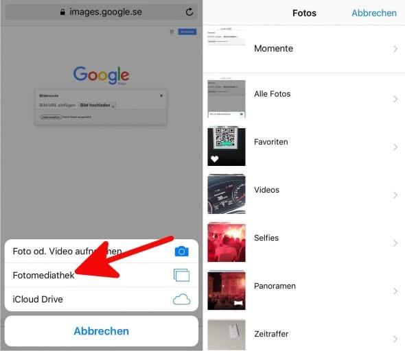 Google Bilder Rückwärtssuche Iphone