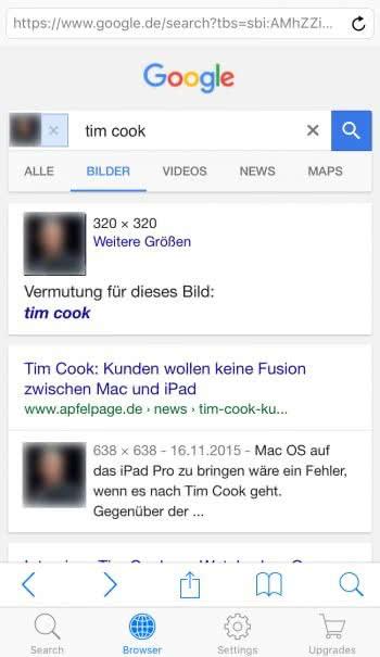 Google bilder rückwärtssuche ios