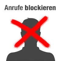 Anrufe von Kontakten und unbekannten Nummern blockieren