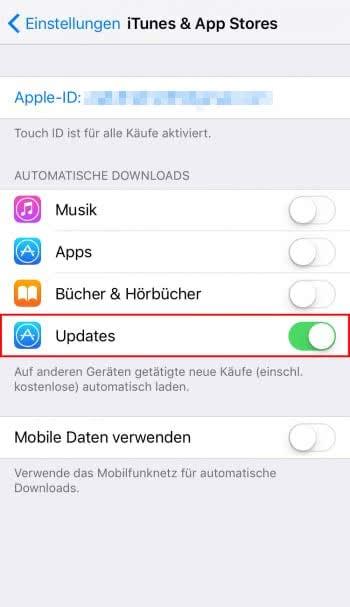 Automatische App-Updates (de)aktivieren