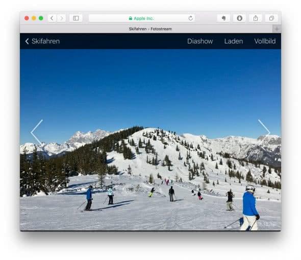 Öffentliches iCloud-Fotoalbum anzeigen