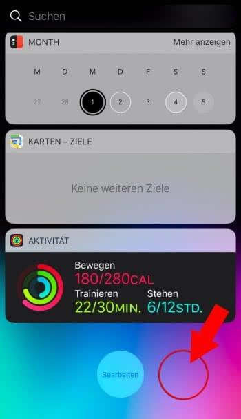 iPhone Dock verschwinden lassen