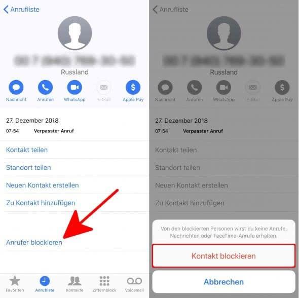 Anrufe und SMS blockieren: Kontakte zur Sperrliste hinzufügen