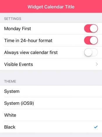 """Widget Calendar"" anpassen"