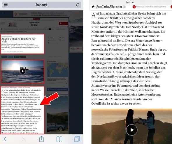 Inhalt zoomen & an Display anpassen