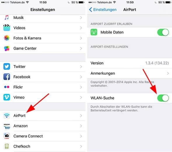 Wlan Monitor auf dem iPhone anzeigen