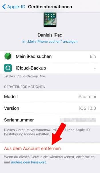 Verknüpfte Geräte entfernen am iPhone