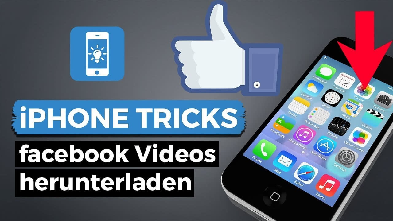 facebook videos speichern am iphone. Black Bedroom Furniture Sets. Home Design Ideas