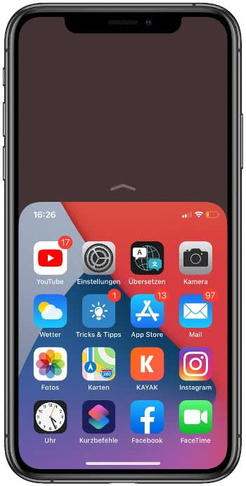 Einhandmodus auf dem iPhone