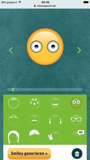 Eigenen Smiley erstellen mit dem Smiley-Creator von WhatsApp SIM