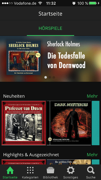 Spooks Ansicht Bibliothek Apple Music