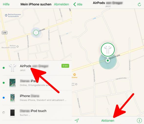 Mein iPhone suchen AirPods suchen