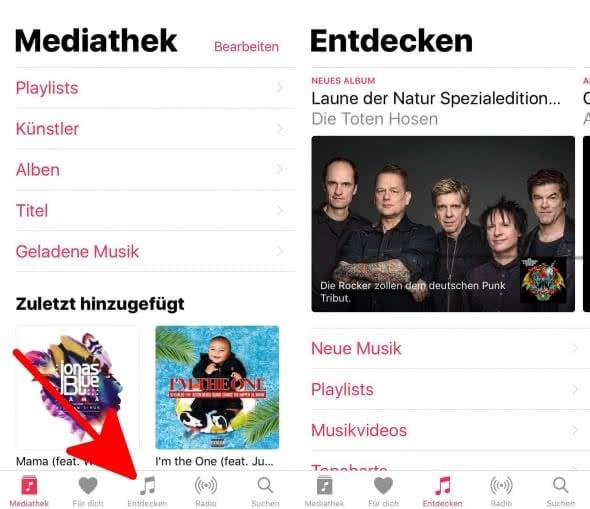 Apple Music in Musik App
