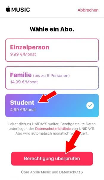 apple music studenten 2