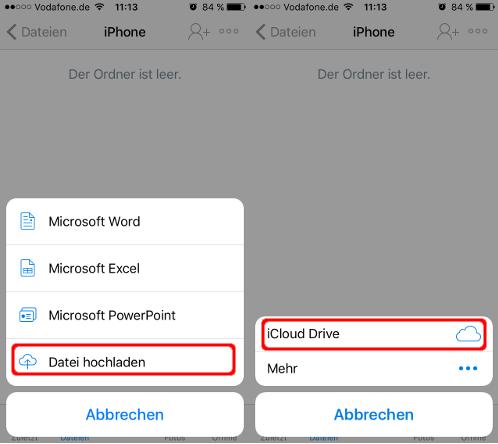 Dropbox Daten iCloud