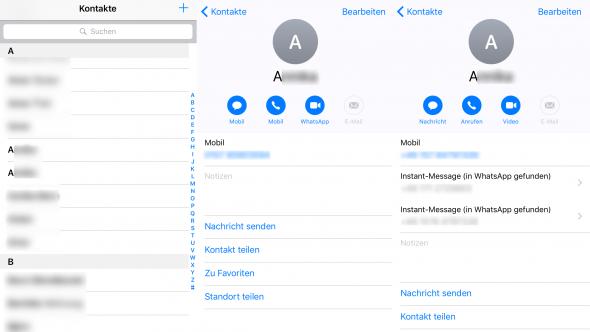 Kontakte vorher Phone Clean