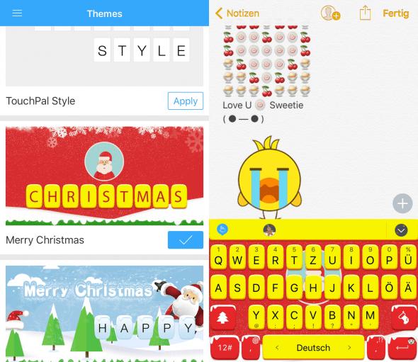 Themes und Emojis Touchpal