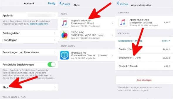 Apple Music Jahresabo 2