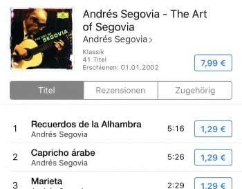 Songs oder Alben in iTunes kaufen